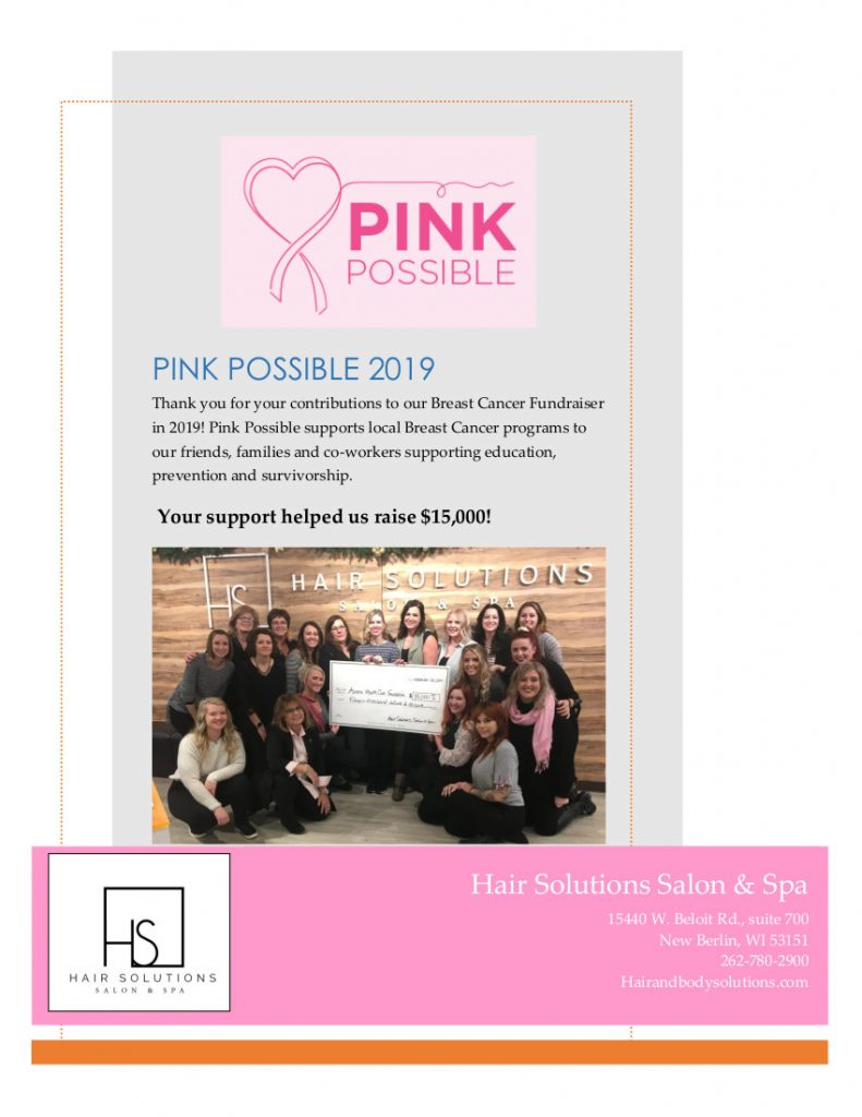 2019 Pink Possible page w photo